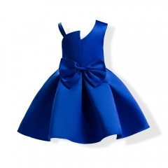 Girl Clothes Formal Dress Carnival Dress Wedding Dress Children Clothes diamond blue 100#