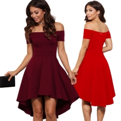 Women clothes lady dress girl dress fashionable party dress fashion dress red s