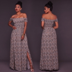 women dress lady clothes women dress long dress party dress leopard pattern s
