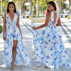 women dress women clothes holiday dress party dress blue flowers s