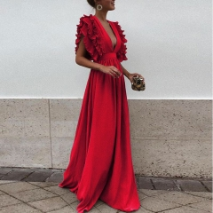 women dress lady clothes women dress long dress party dress fashionable dress red 3xl