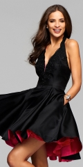 sexy lady dress short  dress hot dress fashionable clothes black s