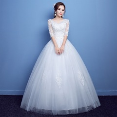 Wedding Dress New Stylish Shoulder Simple Bride Goddess Wedding Dress Tail white 3xl