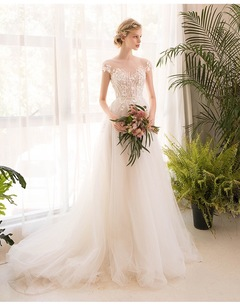New Fashionable Off Shoulder Sleeveless Wedding Dress Goddess Stylish Tailored Dress white s