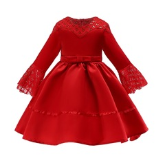 2019 Children clothe girl dress formal dress wedding dress Christmas dress New Year Dress red 100