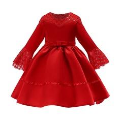 2019 Children clothe girl dress formal dress wedding dress Christmas dress New Year Dress green 150