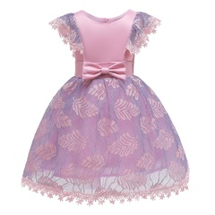 Fashionable New Style Lace Dress Girl Dress Children Clothes Baby Clothes pink 100#