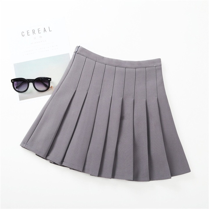 Pleated skirt for girls shape-A skirt for children fashionable children clothes gray 170#