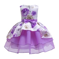 Children clothes flower girl dress for wedding formal party dress for Christmas and New Year purple 100#