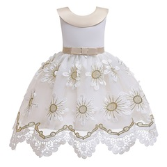 Christmas and New Year flower girl dress children clothes formal dress white 140#