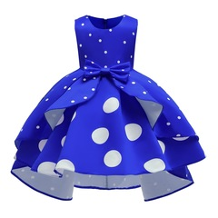 Girl party clothes dress skirt wedding dress Christmas dress new year dress clothes blue 100#