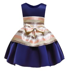 Girl formal party dress silk clothes for children formal dress for party pink blue 100#