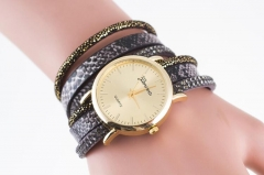 Geneva  two serpentine  quartz watch black