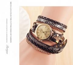 New lady fashion style gold snake watch black