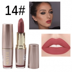 MISS ROSE matte lipstick brick red lipstick gold tube permanent lipstick 14#