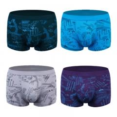 4 pcs Mens Underwear Ultra Soft Cotton Classic Boxer Briefs Letter Printing XL