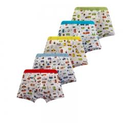 Little Big Boys Soft Modal+Cotton Boxer Briefs Underwear 5 Pack Car Print 2-7Y Engineering Truck 2-3 Years