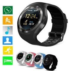 Newest Bluetooth Y1 Smart Watch Relogio Android Smartwatch Phone Call SIM TF Camera Black