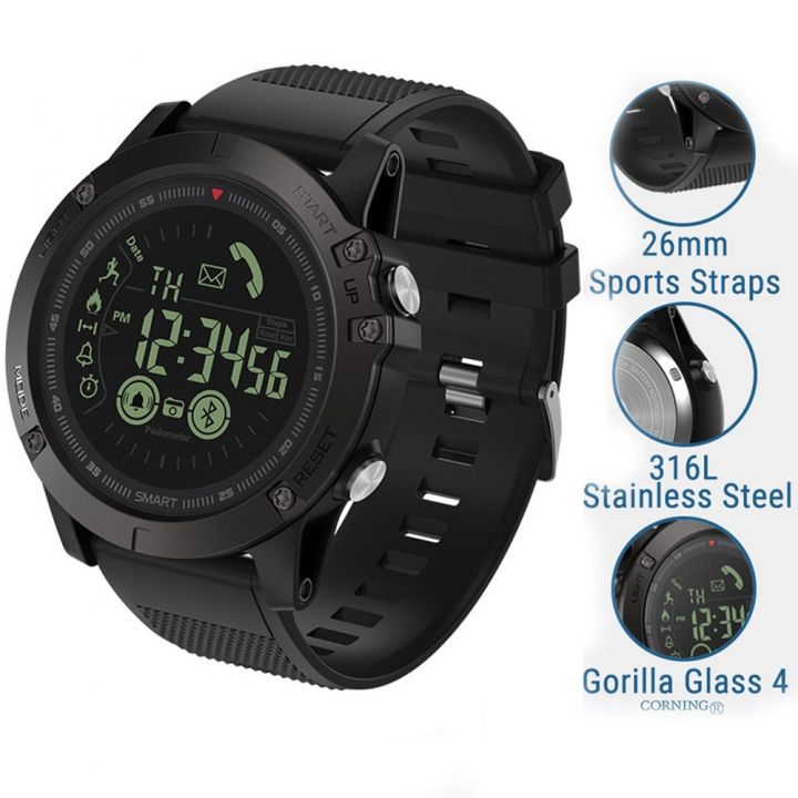Newest VIBE 3 Flagship Smart watch 33-month Standby Time 24h All-Weather Monitoring Black