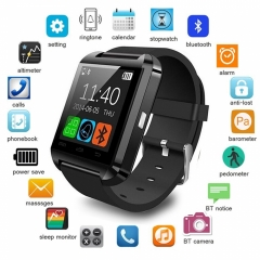 Newest Smart Watches U8 Sport Pedometer Handsfree Bluetooth Smartwatch Wristband for Android Phone black