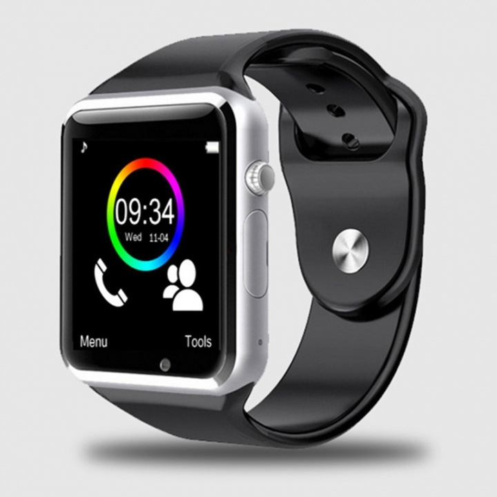 A1 WristWatch Bluetooth Smart Watch Sport Pedometer with SIM Camera Smartwatch For Android black