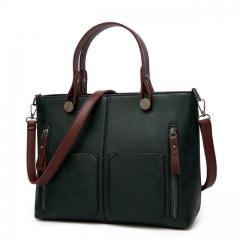 Vintage Women Shoulder Bag Female Causal Totes for Daily Shopping All-Purpose High Quality Handbag black 1