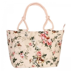 Fashion Folding Women Big Size Handbag Tote Ladies Casual Flower Printing Canvas Graffiti Bag style  1 1