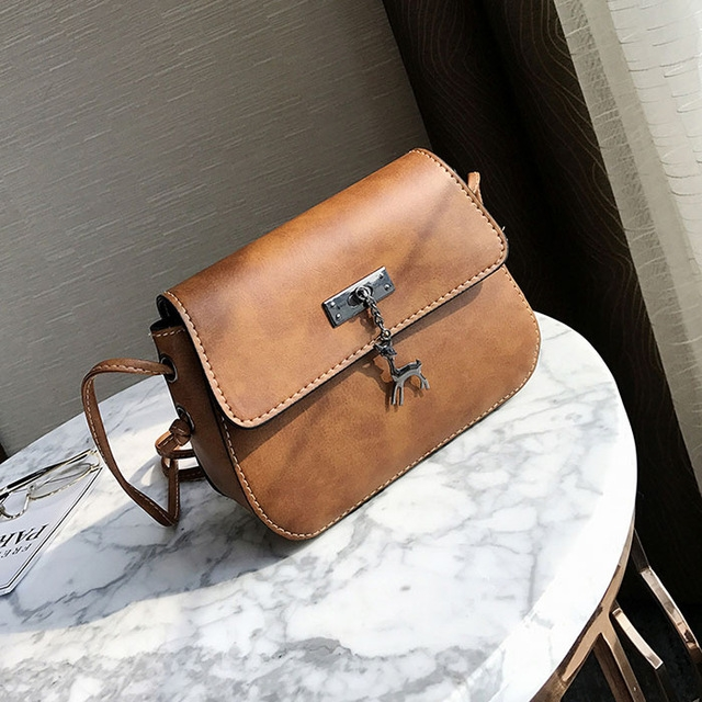 Women Messenger Bags High Quality Cross Body Bag PU Leather Mini Female Shoulder Bag Handbags yellow brown 20×15×7