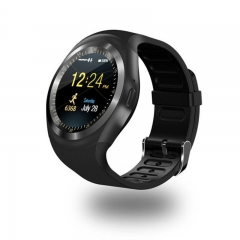 Bluetooth Y1 Smart Watch Relogio Android Smartwatch Phone Call SIM TF Camera black