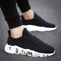 Men Casual Shoes Breathable Male Shoes Tenis Masculino Shoes Zapatos Hombre Sapatos Outdoor Shoes black 39