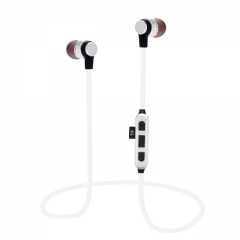 K9 Wireless Bluetooth Sweatproof Sport Gym headphone with Magnetic headphones Support TF Card White