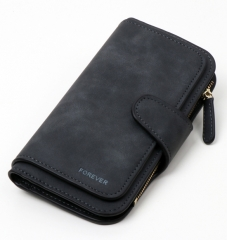 Wallet Brand Coin Purse PU Leather Women Wallet Purse Wallet Female Card Holder Long Lady  purse black 19*2*10