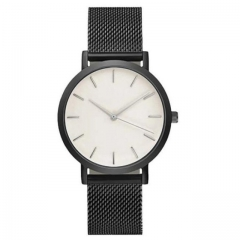 Fashion Women Crystal Stainless Steel Analog Quartz Wrist Watch Bracelet DEC19 black  2