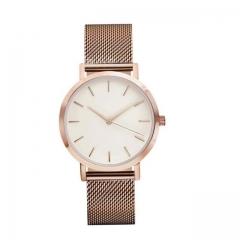 Fashion Women Crystal Stainless Steel Analog Quartz Wrist Watch Bracelet DEC19 rose gold