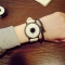 Hot fashion creative watches women men quartz-watch 2017watch leather wristwatches clock white