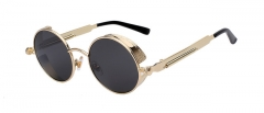 Gothic Steampunk Sunglasses Men Women Metal WrapEyeglasses Round Shades Brand Designer Sun glasses 1 oem