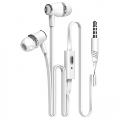 JM21 In-ear Earphone Colorful Headset Hifi Earbuds Bass Earphones for iPhone 6 6S Xiaomi Ear Phones white