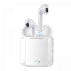 Hot Sell M&J i7s TWS Mini Wireless Bluetooth Headset With Charging Box Mic For All Smart phone white