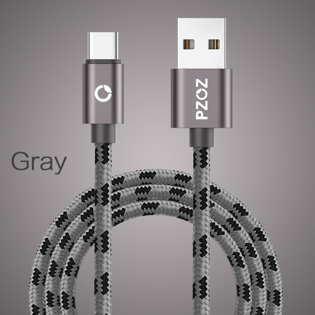 Fast Charging usb c cable Type-c 3.1 data Cord Phone Charger For Samsung S9 S8 Note 9 8 pocophone F1 Type-c gray 1m
