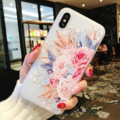 For iPhone 7 8 Plus XS Max XR Rose Floral Cases For iPhone X 8 7 6 6S Plus 5 SE Soft TPU Cover 7232 for iphone 5 5s se