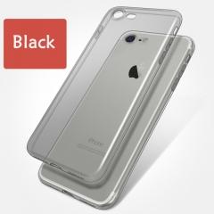 Soft TPU Case For 7 7Plus 8 8Plus X Transparent Phone Case For iPhone 5 5s SE 6 6s 6Plus 6sPlus black for iphone 5 5s se