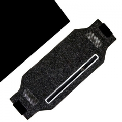 Mobile waterproof waist pack Lycra material breathable running waist slim sports waist bag black black one size