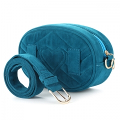 Bags for Women Pack Waist Bag Women Round Belt Bag Luxury Brand Leather Chest Handbag Beige blue one size