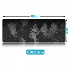 Extra Large Mouse Pad Old World Map Gaming Mousepad Anti-slip Natural Rubber Gaming Mouse Mat black 70cm   30cm