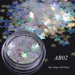 Chameleon Color Sequins Nail Art Glitter Flakes UV Gel Polish Star Heart Flower Paillette Decor Tool 1