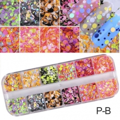 Color 3D Ultrathin Sequins Nail Glitter Flakes 1/2/3mm Sparkly DIY Tips Dazzling Paillette Nail 5