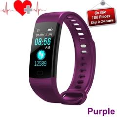Smart Band Color Screen Wristband Heart Rate Activity Fitness tracker Smart Electronics Bracelet purple