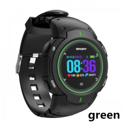 DTNO.1 F13 smart watch 50M waterproof sports watch sports tracker for IOS / Android PK smart watch green