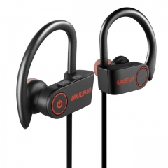 Bluetooth headphones IPX7 waterproof wireless headphone sports bass bluetooth earphone with mic gray black