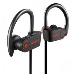 Bluetooth headphones IPX7 waterproof wireless headphone sports bass bluetooth earphone with mic gray black